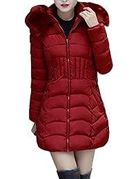 Reaso Femme Manteau Hiver Chaud Court Parka à Capuche Cagidgan Elegant  Pullover Mode Veste Jacket Manches Longues Blouson Doudoune… 50fc79442990