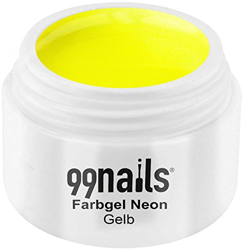 99nails Farbgel Neon - Gelb, 1er Pack (1 x 5 ml)