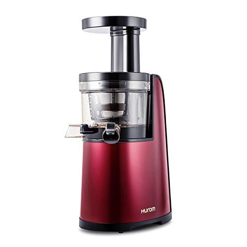 Hurom HG-EBE11, Slow Juicer, Estrattore di Succo, 2. Generazione, Acciaio Inossidabile, 40 rpm, rosso vino
