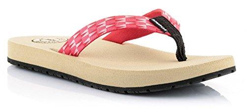 Source donna dita sandali Djibouti diversi colori Rosso - rosso
