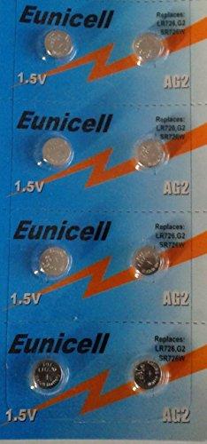 Versand mit Tracking-Eunicell von 8Knopfzellen Alkaline AG2/G2/G2LR59/GP397/SR726W/396/397