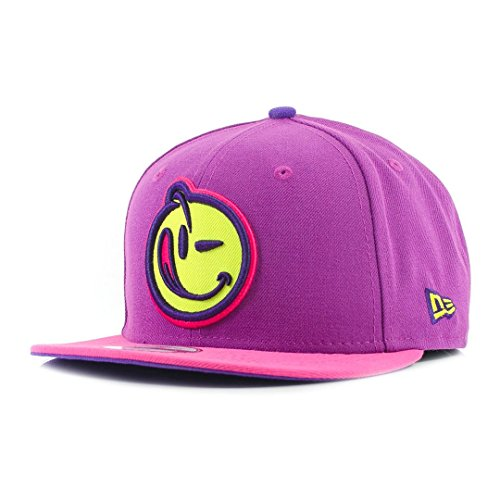 new-era-9fifty-x-yums-smiley-face-beetroot-purple-cyber-green-snapback-cap