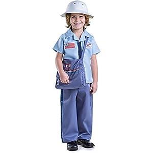 Dress up America - Conjunto de Disfraz de Cartero  para niños,, Talla XS, 3 - 4 años (850-T4)