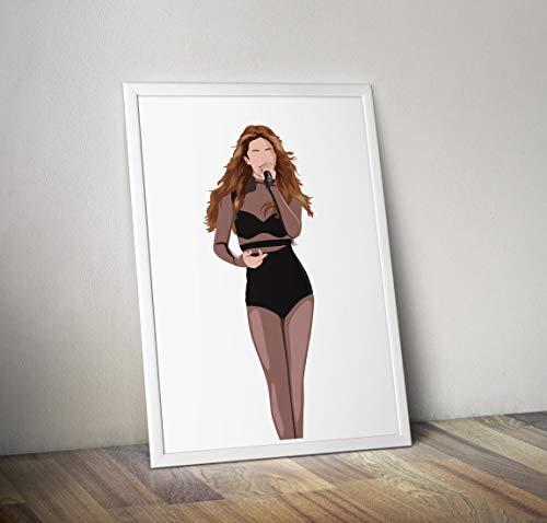 Selena Gomez inspirierte Poster - Zitat - Musiker Prints in verschiedenen Größen (Rahmen nicht im Lieferumfang enthalten) - Bilder Selena