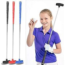 Tbest Golf putters Kids Junior en Acier Inoxydable Golf Club Putter 31inch Mini Caoutchouc tête de Golf putters pour Les Enfants âges 3-5 6-8 9-12 (Red)