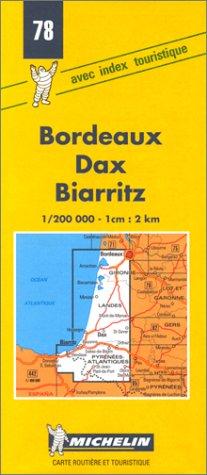 Carte routière : Bordeaux - Dax - Biarritz, 78, 1/200000