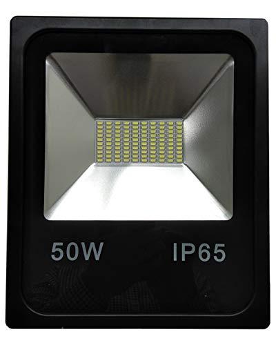 (LA) 50w Foco Proyector Led para Exterior Iluminación Decoración 6500k IP65 Negro...