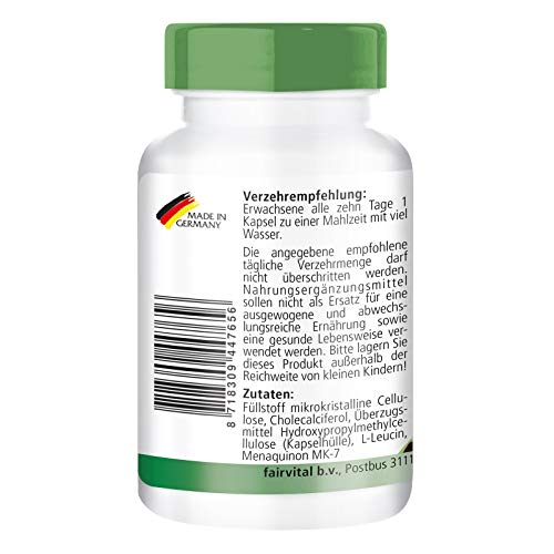 41N42k5psOL - Vitamina K2 200 mcg con D3 10000 IU - Altamente dosificado - 90 cápsulas solamente 1 cápsula cada 10 días - ¡Calidad Alemana garantizada!