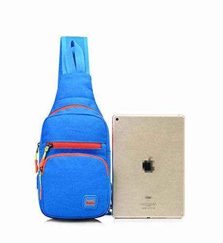 Jaimelavie Damen Herren Sling Rucksack Sling Bag Pack Sport Brusttasche Handtasche Crossbody Bag Rucksack Backpack Wasserdicht Blau