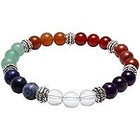 JOVIVI Damen Herren Stein Armband Reiki-Energietherapie Yoga-Armband 7 Chakra Healing Balance Armreif Buddha-Armband preisvergleich bei billige-tabletten.eu