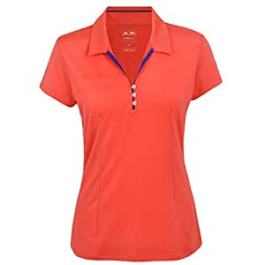 adidas performance pour femme golf polo taille 10 38 orange sports et loisirs. Black Bedroom Furniture Sets. Home Design Ideas