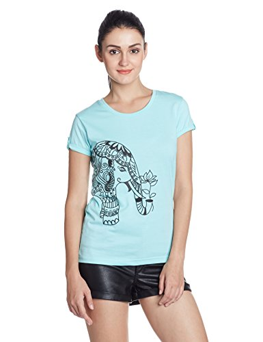 Cherokee Women's Plain T-Shirt (268477951_Mint_S)  available at amazon for Rs.148