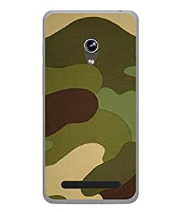 PrintVisa Honored Camouflage High Gloss Designer Back Case Cover for Asus Zenfone 5 A501CG