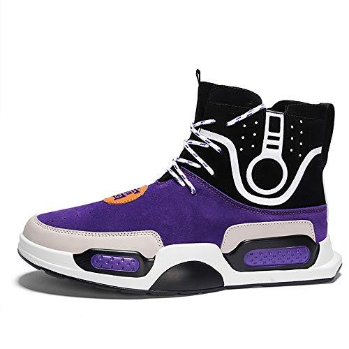 LH Herbst-und Winter-Hip-Hop-Schuhe Herren Mode-Trend Casual Sportschuhe Basketballschuhe Herren im Freien Rutschfeste Bequeme Laufschuhe,43
