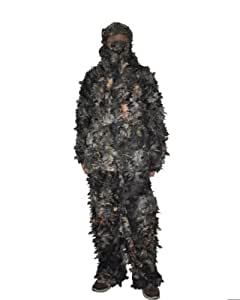 Forest & KAS Tenue de Camouflage pour chasse Motif Camouflage 3D à feuilles Ghillie & Yowie Veste Pantalon de survêtement
