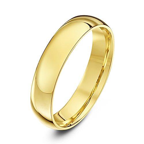 ng Schweres Court Form 9ct gelbgold 4mm - Gr. 69 (22.0) TH1182 (18 Karat Gold Ring Für Männer)