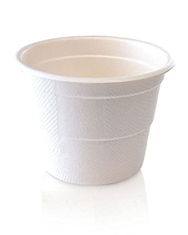 Best Quality Portion Control Eco Cup From Precise Portions - Set Of 25 - White 10 oz. Compostable Cups - Ecofriendly - Made of Natural Sugar Cane Fibre - Fully Recyclable - Disposable - Microwave Safe - Sturdy - Oil & Cut Resistant - USDA Nutritional Guidelines Design - 3 Level Indicators To A Perfect Size Drink Without Thinking - 4, 8 & 10 oz - Out Or At Home - Drink Right & Protect The Earth - Great Tool For Weight Loss & Enhanced Living - Order Now & Start Improving Your