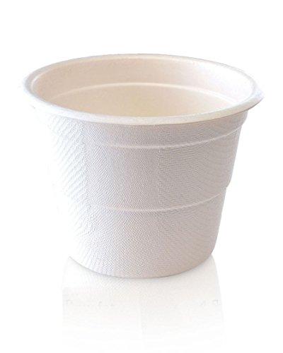 p10cc-25portioskontrolle kompostierbar Tassen, natürlichem Bambus Faser, perfekt für Gewicht Verlust und gesundes Wohnen (25Stück) ()
