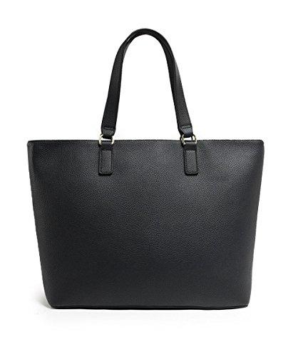 Armani Jeans Damen Borsa Shopping Tote, 30 x 12 x 46 cm Schwarz (Nero)