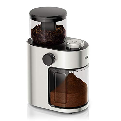 Braun FreshSet KG7070 Kaffeemühle | French Press, Filterkaffee, Espresso | 15 Mahlgrad-Einstellungen | 2-12 Tassen | Für 220g Kaffee