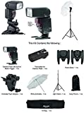Sonia Camera Flash Speedlight VT631RF Kit for DSLR Cameras GN 42 Combo Camera