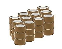 Idea Regalo - Palucart 36 pezzi rotoli nastro adesivo 50x66 srotolamento silenzioso per imballaggio colore AVANA