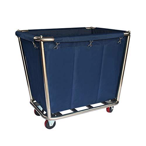Stcg-l carrello staccabile blu, 50 * 90 * 83cm - carrello multifunzione portatile per la pulizia del carrello in acciaio inox multifunzione ad alta capacità (dimensioni : 50 * 90 * 83cm)