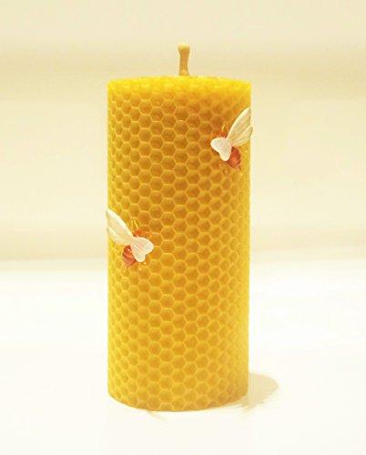 100% Reines Bienenwachskerze 13 x 6 cm Ökologische kerzen Natürlichen Honigduft 100% Handarbeit