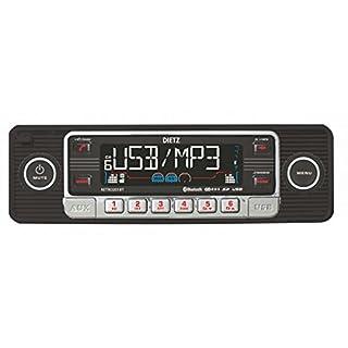 Dietz RETRO_201_BT Autoradio 1-DIN Retro Bluetooth-Radio CD, MP3, USB, SD, RDS, AUX mit Fernbedienung - Farbe: schwarz