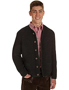St. Peter Trachten Herren Strickjacke 22085 ANTHRAZIT