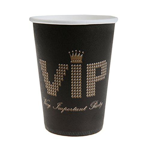 Motto Kostüme Hollywood (NEU Becher VIP, ca. 300 ml, schwarz, 10)