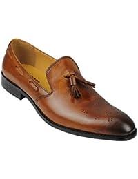 ec47ac210f12 Xposed homme en cuir véritable Noir Marron Smart décontracté Tassel Bateau.  Mod Conduite rétro Chaussures