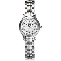 binlun Office Lady Edelstahl Armbanduhr mit einem kleinen Ziffernblatt 2,6cm Aufschlag