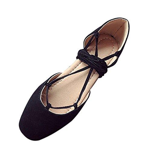 Schuhe Damen Stiefel SUNNSEAN Mode Einzelne Schuhe Frauen Mädchen Roman Shallow Mouth Flachen Schuhe Cross Strap Bandage Basis Sandalen Erbsenschuhe Boots