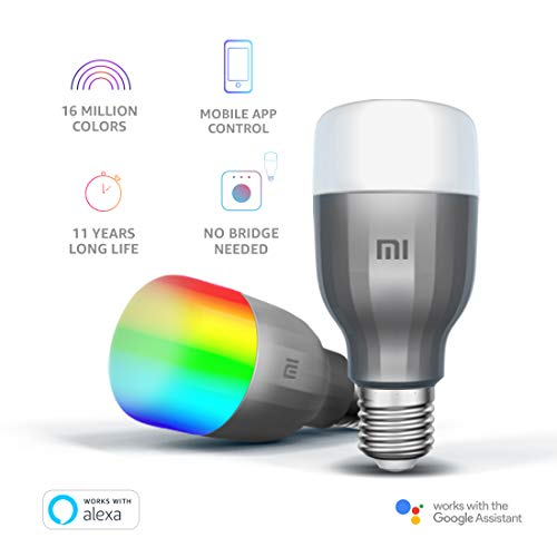 Mi LED Wi-Fi 10W Smart Bulb (White and Color, E27 Base), Compatible with Amazon Alexa and Google Assistant