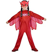 Amscan pjmasques bibou-Owlette Deguisement, 9902948, Rojo