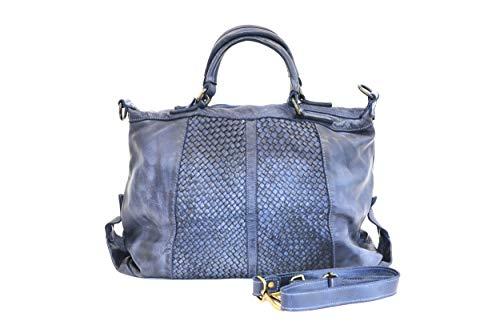 MASSIMA BARONI. Damen Umhängetaschen. New York Modell. Italienische Vintage Ledertasche (blau) - Gucci Authentischen Handtasche Tasche