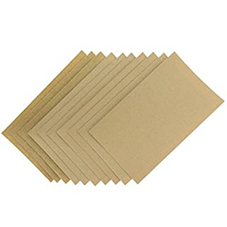 Coral Tools 74200 Abrasive Sandpaper Sheets 10 Pack incl Fine Medium and Coarse Grits, Brown