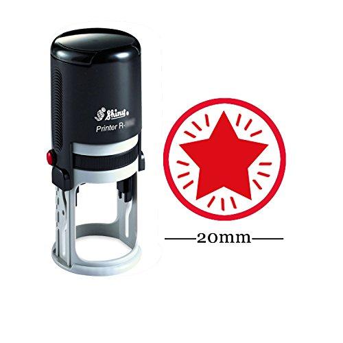 STAR Runde Selbstfärber Stempel Individuelle Shiny 20 mm Mini Briefmarken Lehrer Briefmarken Personalisierte
