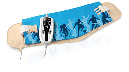 Daga LM Sport - Almohadilla eléctrica abdominal-lumbar, 70 x 22 cm, 90 W, 4 niveles de temperatura
