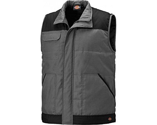 Dickies Mens Everyday Velcro Water Repellent Workwear Bodywarmer Gilet grey/black
