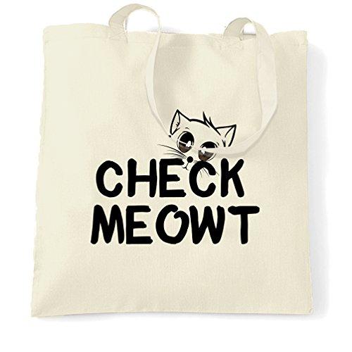 Überprüfen Meowt Cute Cat Kitten Muschi Tiere Pun Slogan Print Design Tragetasche