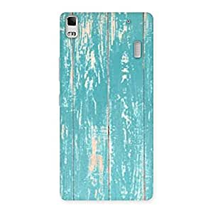 Stylish CyanBlue Bar Texture Back Case Cover for Lenovo A7000