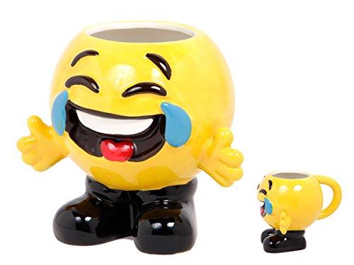 Emoji Smiley Tasse, Variante wählen:78/8248 Tränen lachen mit Füße