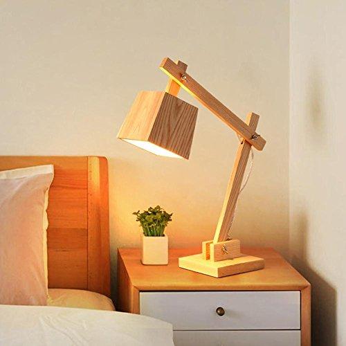 GBT Tischlampe Schlafzimmer Nachttischlampe Kreative Nordische Dekorative Lichter Wohnzimmer Studie Schreibtisch Lampe Holz Nachttischlampe (Led-Leuchten, Warmes Licht, Weißes Licht, Kronleuchter, Innenbeleuchtung, Außenleuchten, Wandleuchten)