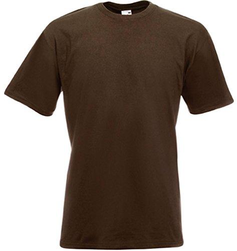 Fruit of the Loom - Heavy T-Shirt 'Super Premium T' L,chocolate L,Chocolate (Shirt Knit Heavy)