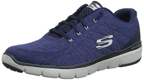 Besten Cross-training Schuhe (Skechers Herren Flex Advantage 3.0-Stally Sneaker, Blau (Navy Nvy), 43 EU)