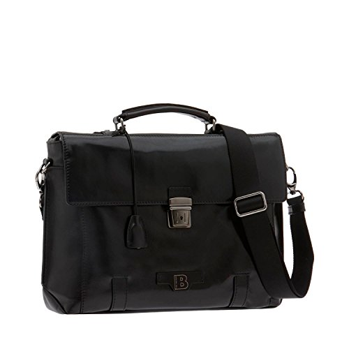 The Bridge Hydro Aktentasche Leder 42 cm nero-gunmetal
