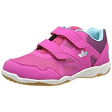 Lico Girls' Hot V Multisport Indoor Shoes, Pink (Pink/Lila/Türkis Pink/Lila/Türkis), 12.5 UK Child