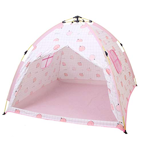 CATRP Marke Kinderzelt Automatik Schnelles Öffnen Im Freien Campingzelt Innen Mädchen Spielhaus Schloss, Pink